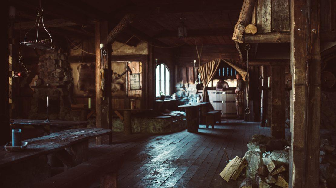 LARP-Dorf Bogenwald - Taverne Innenansicht