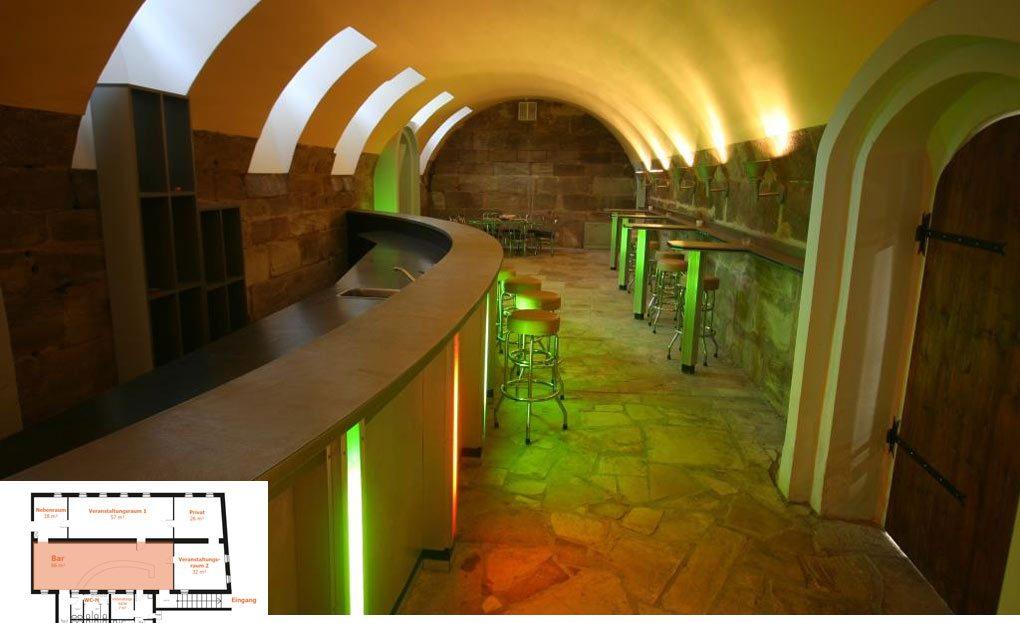 LARP Location Die Matilde - Bar im Hauptraum