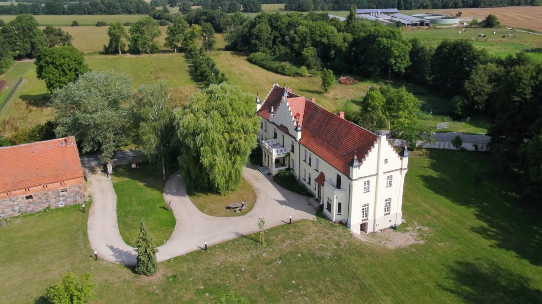 LARP Gelände Gutshaus Penzlin - Luftbild