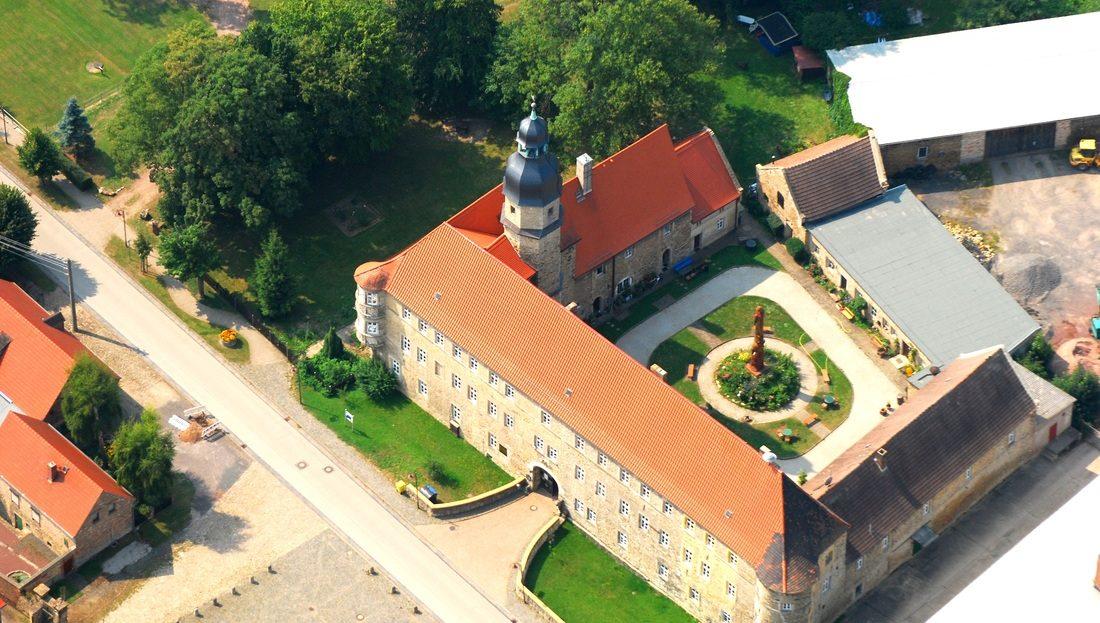 LARP Location Schloss Schochwitz - Luftbild