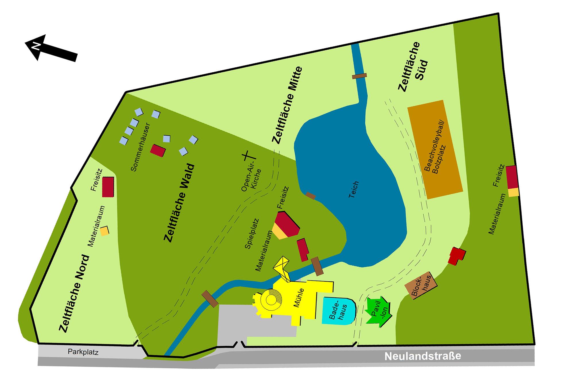 Geländeplan Hollager Mühle
